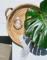Trio of Round Ilala Palm Trays