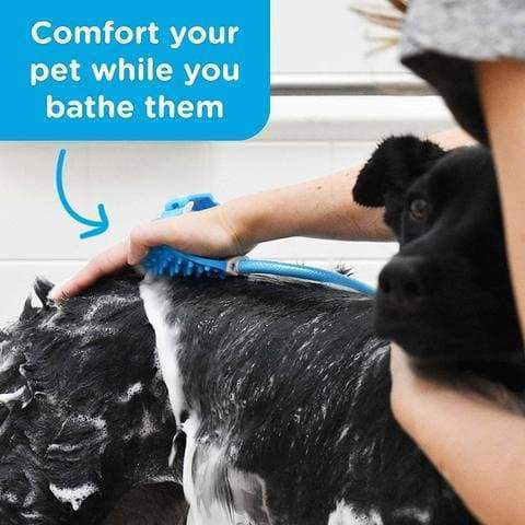 Pet Bathing Tool, Pet Shower Sprayer for Dog Cat Bathing Massage Combo with Pet Grooming Glove and 2 Faucet Adapters