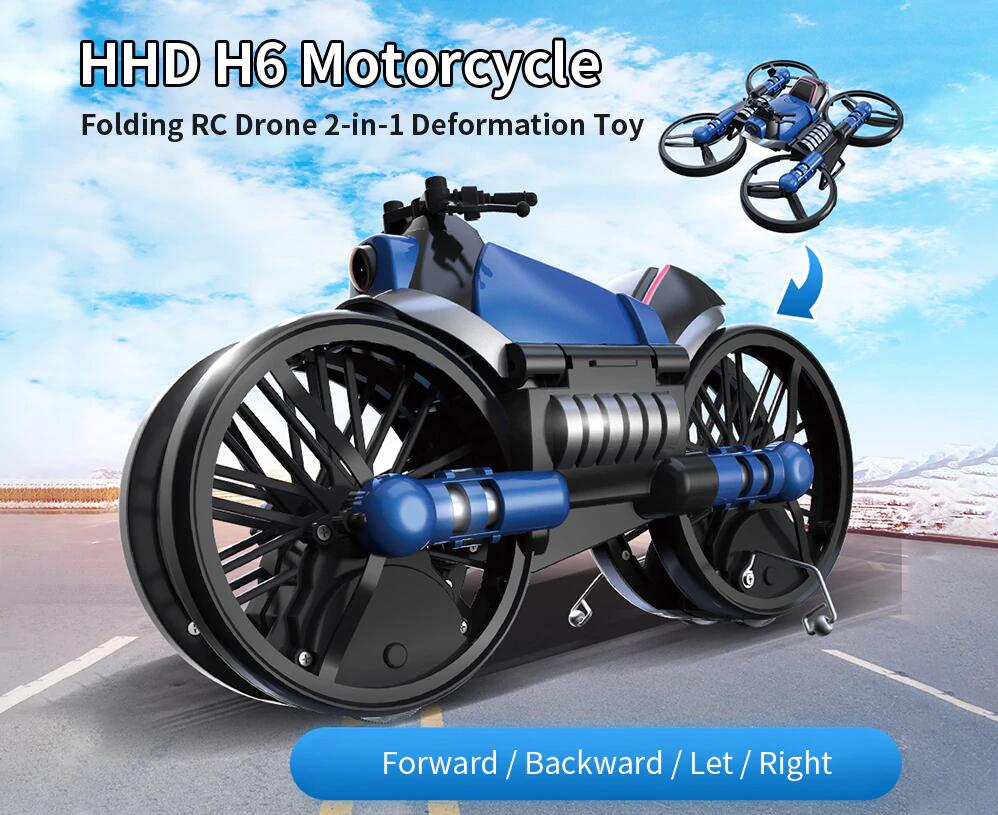 HHD H6 Motorcycle Folding RC Drone 2-in-1 Deformation Toy