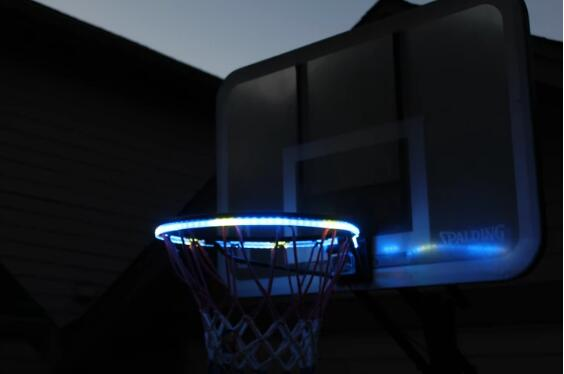 Awesome Basketball Hoop Sensor-Activated LED Strip Light-6 Flash Modes