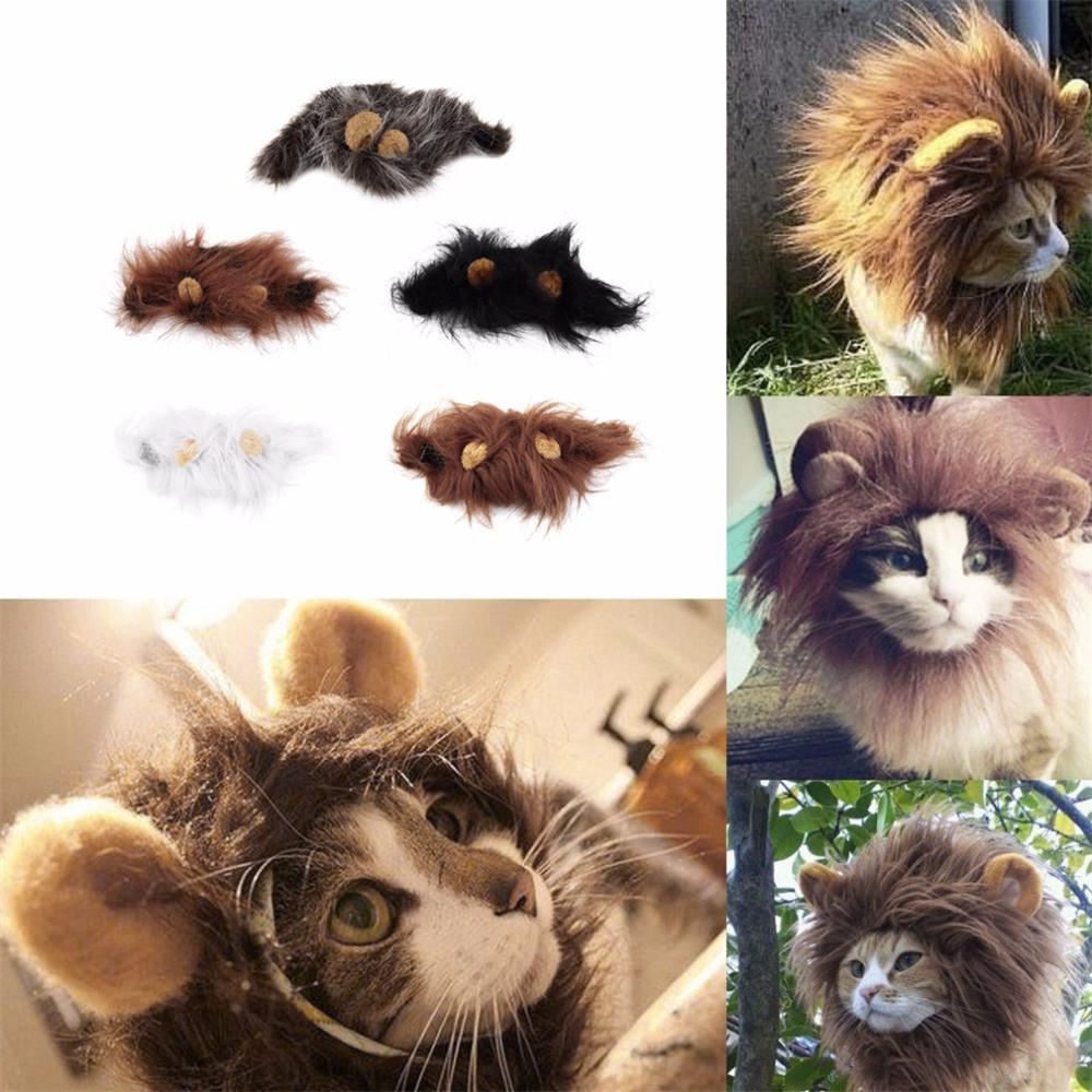 Cat - Lion Hair With Ears Wig For Pets