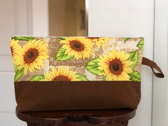 Autumn Fleurs Large Zippered Bag