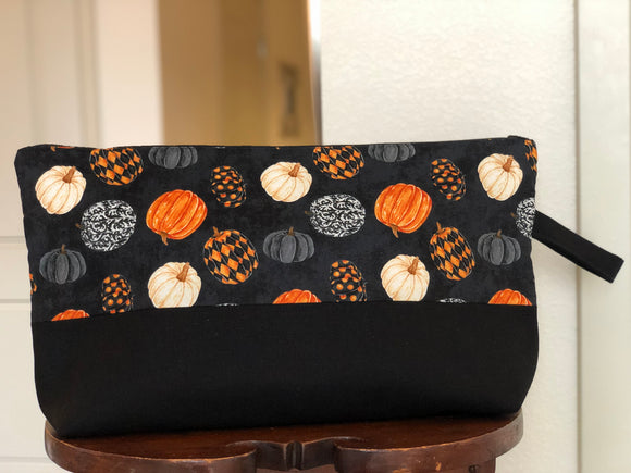 Fancy Pumpkins Large Zippered Bag