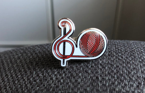 Stitching the High Notes Logo Pin