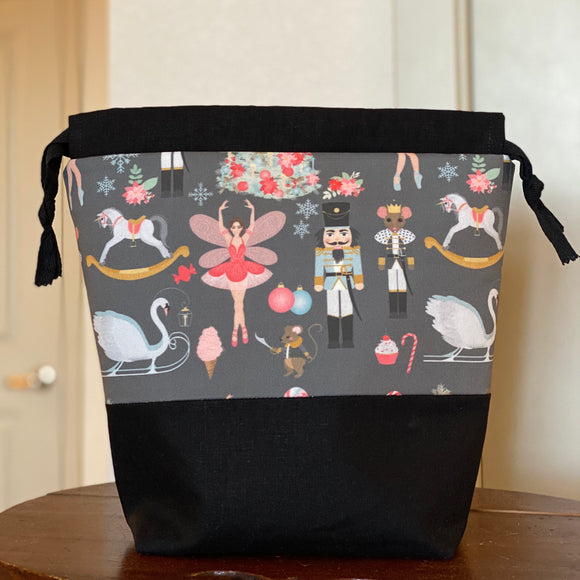 Nutcracker Drawstring Bag