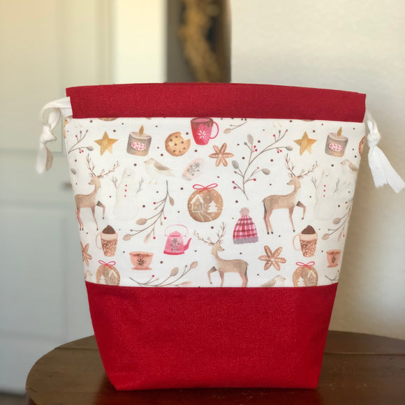Cozy Christmas Drawstring Bag