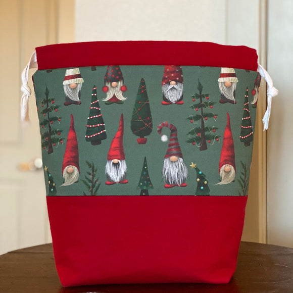Christmas Gnomes Drawstring Bag