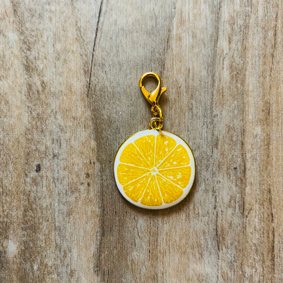 Lemon Slice Stitch Marker