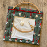 Christmas Gnomes Large Needlework Bag