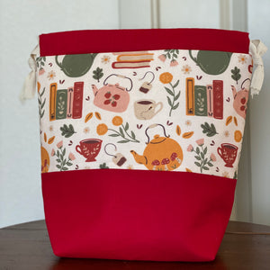 Books & Tea Drawstring Bag (Returning Soon!)