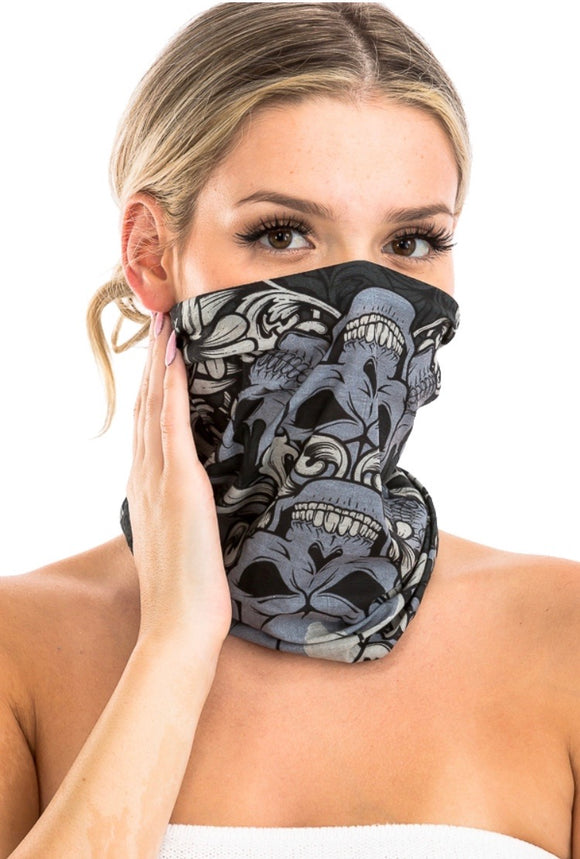 Adult - Skull Neck gaiter mask (3 designs)