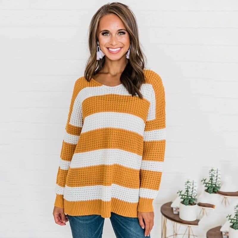 Mel's Striped Sweater - 4 color choices
