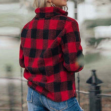 Load image into Gallery viewer, Ellie Buffalo plaid with sequin pocket Sherpa