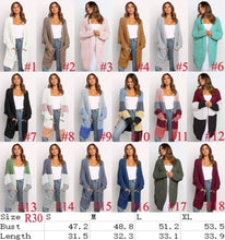 Load image into Gallery viewer, Must have Cardi w/Pockets