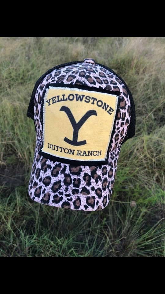 Yellowstone cheetah ball cap