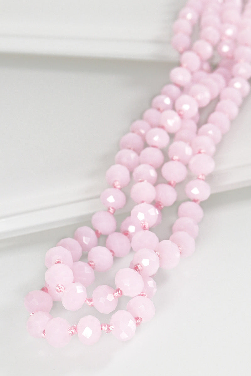 The Essential Beaded Necklace - Baby Pink