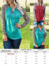 Load image into Gallery viewer, Michelle's Lace up Leopard Top - 2 color choices