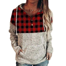Load image into Gallery viewer, Britney's Buffalo plaid hoodie - 2 color choices