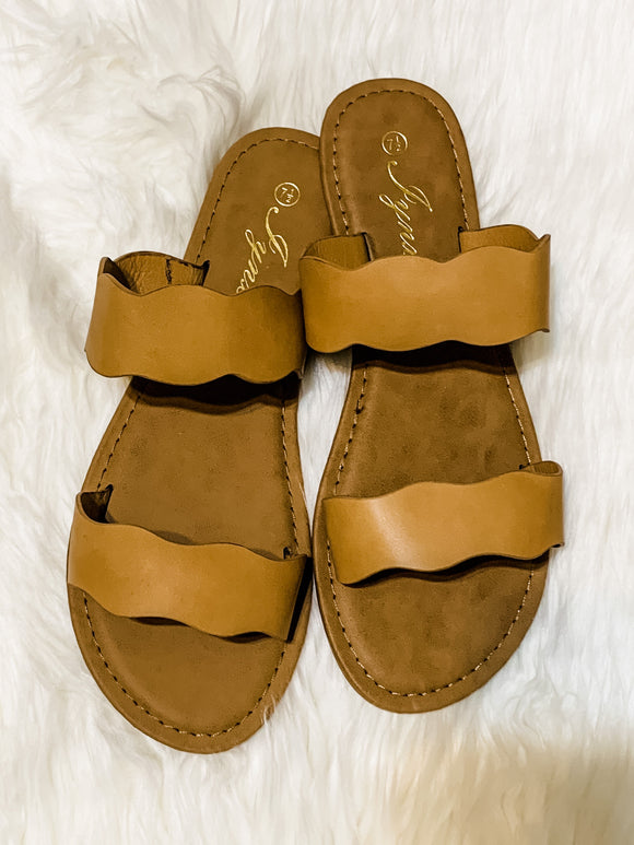Summer Slide Sandals -TAN