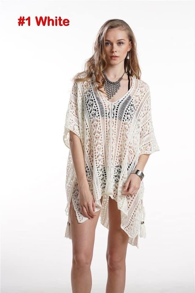 Connie Crochet Cover Up w/tassels