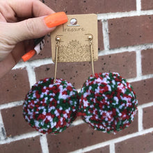 Load image into Gallery viewer, Multi Color Pom Pom Earrings