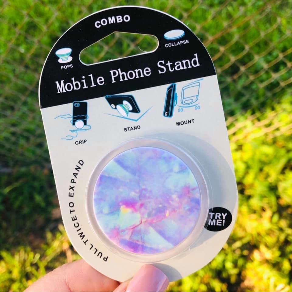 Pastel phone grip and stand