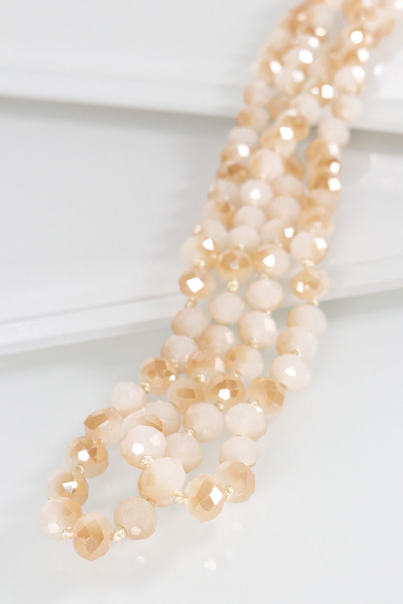 The Essential Beaded Necklace - Opal Nude
