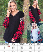 Load image into Gallery viewer, It's all about Buffalo plaid/Leopard Top -2 color choices
