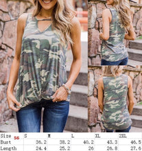 Load image into Gallery viewer, Liberty Camo Tank w/Twisted Hem