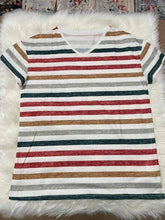 Load image into Gallery viewer, Stella Striped V-Neck Top