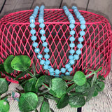 The Essential Beaded Necklace - Sky Blue