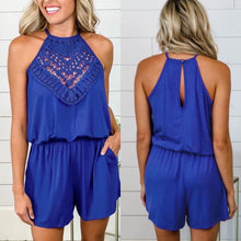 Load image into Gallery viewer, Cathy Crochet Romper w/pockets