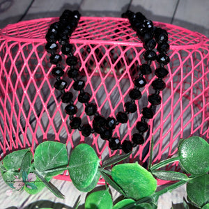 The Essential Beaded Necklace - Black