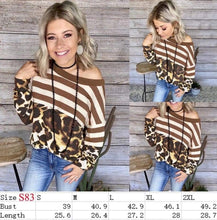 Load image into Gallery viewer, Leopard stripes Top