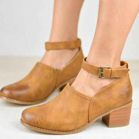 Chunky Heel Booties Adjustable Buckle Casual Ankle Strap Clogs Boots