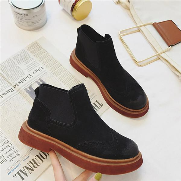 Women Suede Casual Comfort Martin Ankle Shoes