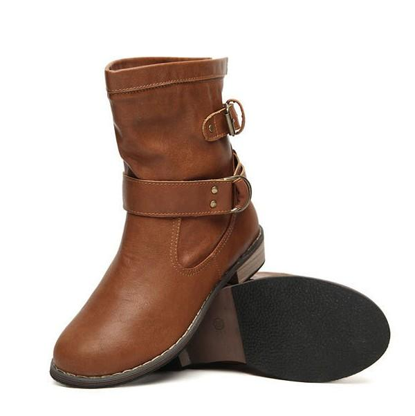 Casual Fashion Locomotive Flat Boots