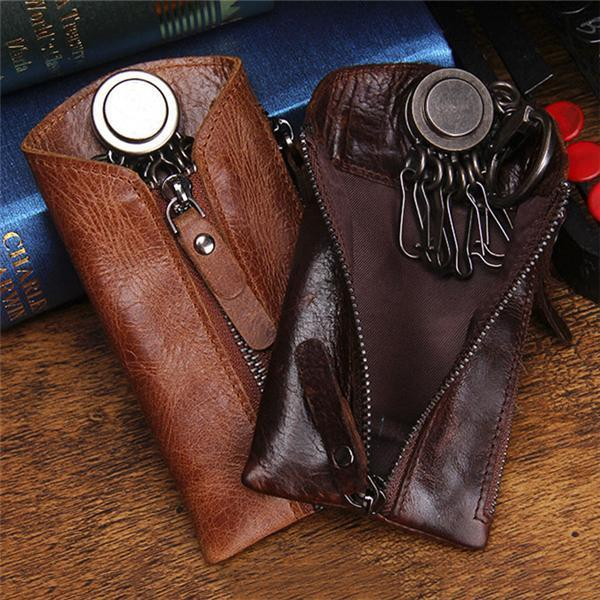 Genuine Leather Fashion Casual  Key Holder wallets