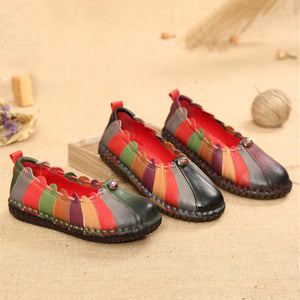 Round Leather Handmade Shoes