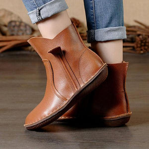 Vintage Leather Comfort  Martin Boots For Women