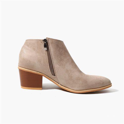 Big Size Womens Comfort Stacked Chunky Heel Pointed toe PU Leather Ankle Boots