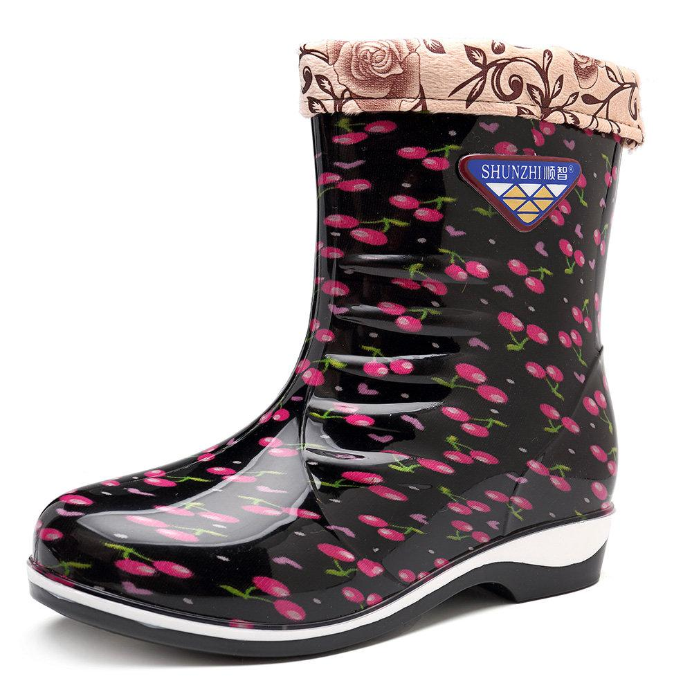 Women's Printing Waterproof Removable Lining Snow Boots