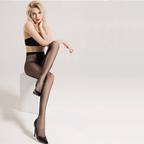 Anti-off Sheer Waist High Stockings Silicone Hold Up Nylon Compression Pantyhose