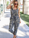 Camouflage Printed Vest One-Piece Trousers