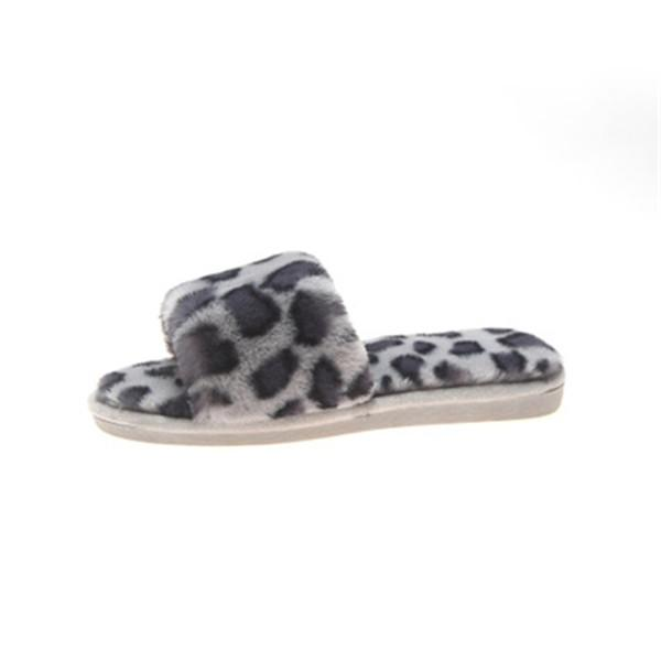 Fashion Leopard Warm Non-Slip Slippers