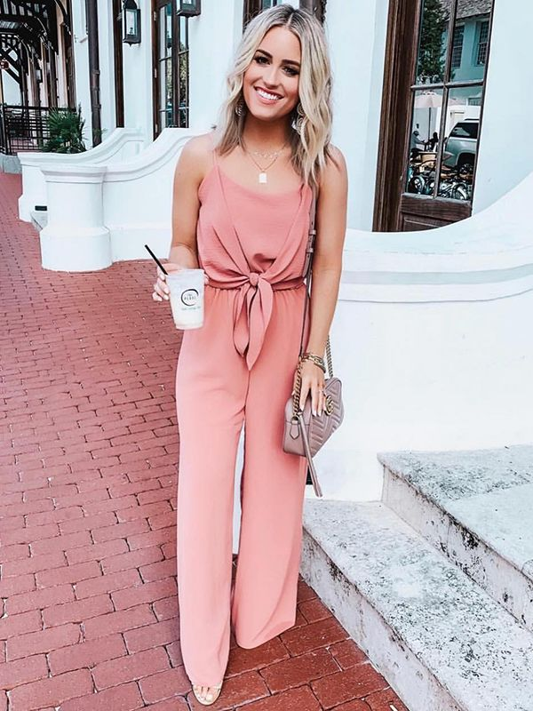 Every Call Me Maybe Sweet & Flirty Rose Pink Jumpsuit