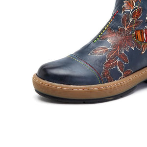Women's Bohemian  Genuine Leather Ankle Boots
