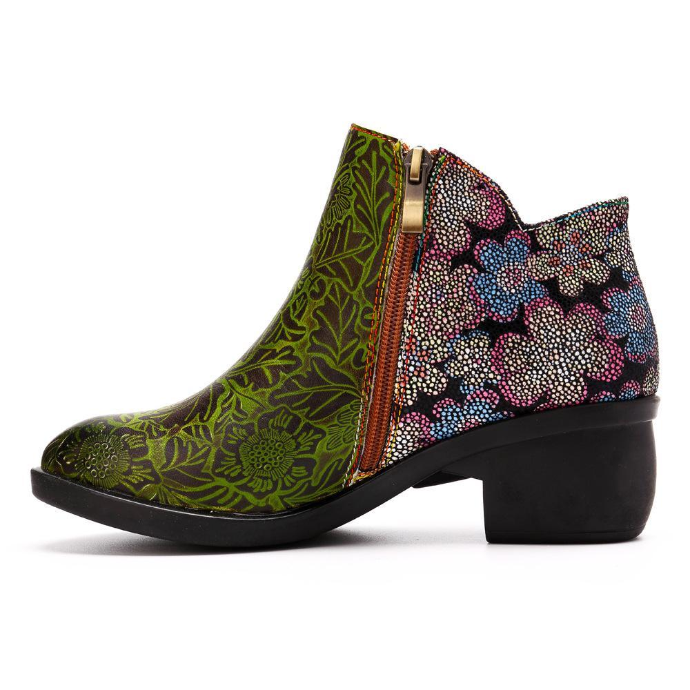 Fashion Ethnic Style Retro Stitching Craft Comfortable Women's Boots