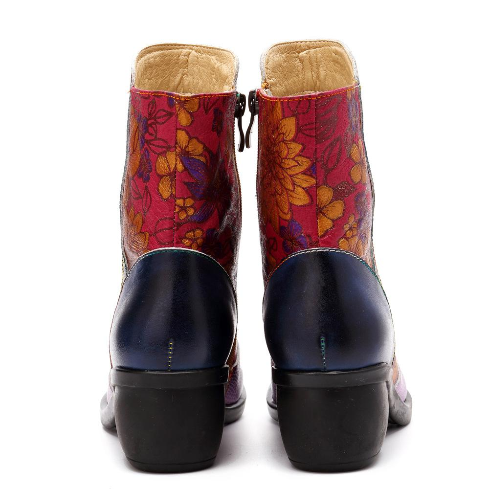Fashion Ethnic Retro Comfortable Zipper Boots