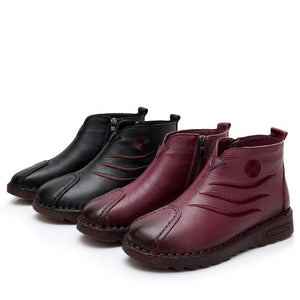 Genuine Leather Warm Boots